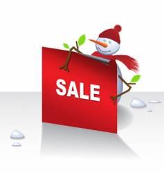 Christmas snowman card vector image vector image