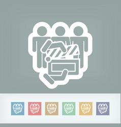 Clapboard actors icon vector
