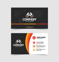 colorful and creative double-sided business card p vector image