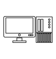 computer monitor with sd card vector image
