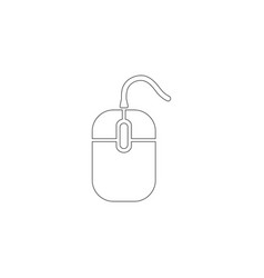 Computer mouse flat icon vector