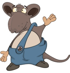 Cute cartoon mouse vector