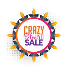 Diwali sale background design vector