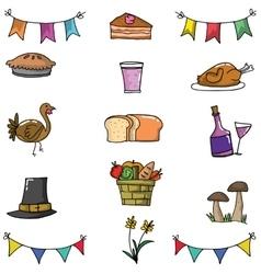 Doodle of thanksgiving art vector