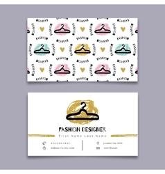 Fashion designer stylist business card Modern vector