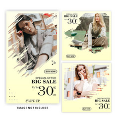 fashion sale banner or square flyer vector image