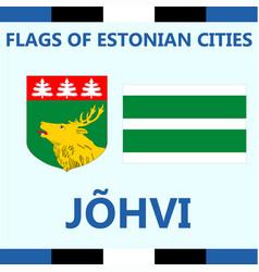 Flag of estonian city johvi vector