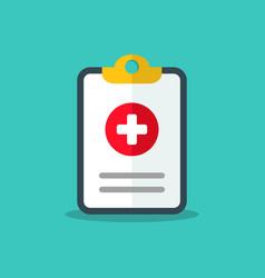 flat design medical chart icon medical check mark vector image