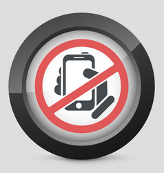 forbidden phone icon vector image