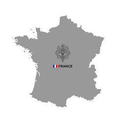 france map with coat arms vector image