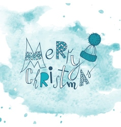 Funny Typography Christmas Background vector