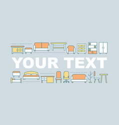 Furniture store word concepts banner vector