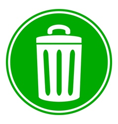 Garbage button vector image