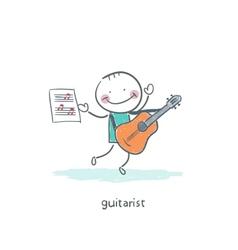 Gitatist vector image