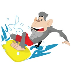Gorilla Surfer vector