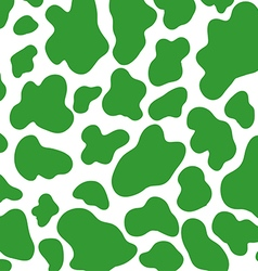 Green cow skin pattern vector