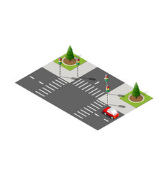 Highway city street road vector