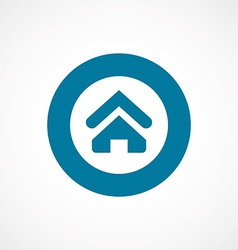 Home bold blue border circle icon vector