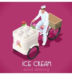 Icecream Man People Isometric vector