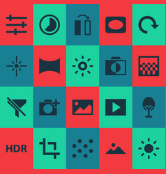Image icons set includes icons such as chessboard vector