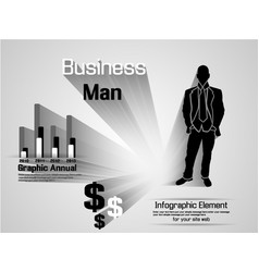 Infographic man business option vector