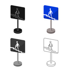 Information road signs icon in cartoon style vector