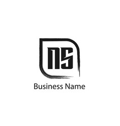 Initial letter ns logo template design vector