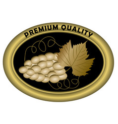 Luxurious wine etiquette premium quality golden vector