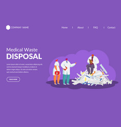 Medical waste recycling garbage in medicine vector