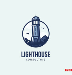 Modern professional logo emblem lighthouse vector