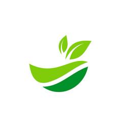 Organic green leaf nature logo vector