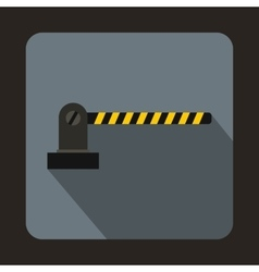 Parking barrier icon in flat style vector image
