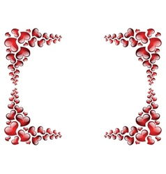 Picture frame to the Valentines day vector