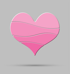 pink heart element romance valentine day concept vector image