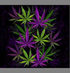Purple and green cannabis vector