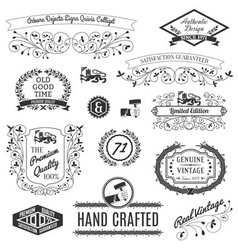 Retro Labels For Calligraphic Designs vector
