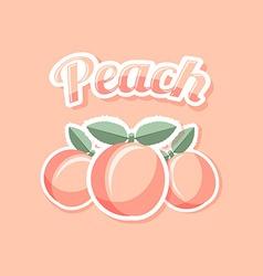 Retro peach vector