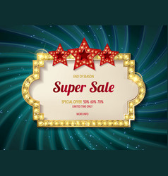 Retro sign with lamp biggest sale vector