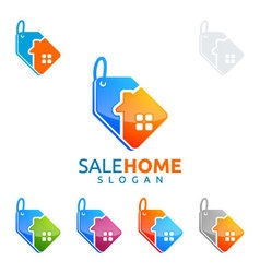 Sale home logo real estate logo home house vector