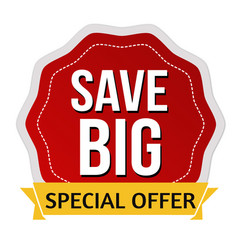 Save big sticker or label vector