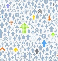 Seamless background of different arrows vector image