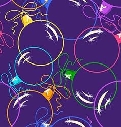 Seamless pattern of Christmas balls vector image