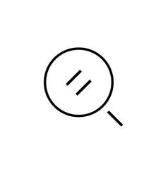 search thin line icon seo big data symbol web vector image