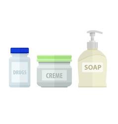Set of bottles for bath soap vector image vector image