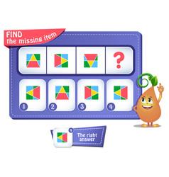 Shapes educational iq comes next puzzle vector