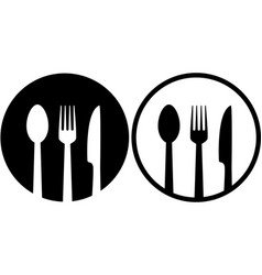 sign with spoon fork and knife vector image