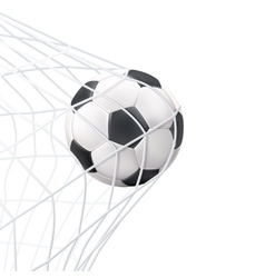 Soccer ball in net pictograph vector