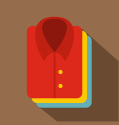 Stack of clothing icon flat style vector