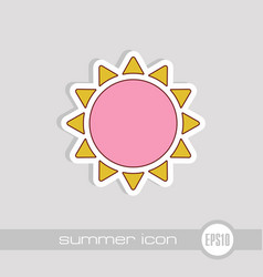 sun icon summer vacation vector image