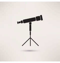 Telescope Icon in the flat style vector
